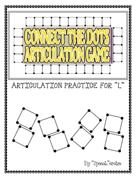 "SPEECH THERAPY CONNECT THE DOTS ""L"" ARTICULATION GAME"