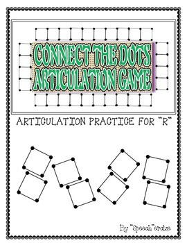 """SPEECH THERAPY CONNECT THE DOTS """"R"""" ARTICULATION GAME"""