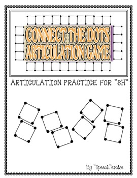 """SPEECH THERAPY CONNECT THE DOTS """"SH"""" ARTICULATION GAME"""