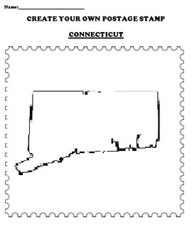 CONNECTICUT Create your Own Postage Stamp