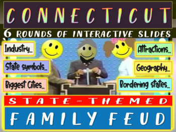 CONNECTICUT FAMILY FEUD! Engaging game about cities, geogr