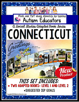 CONNECTICUT State Symbols ADAPTED BOOK for Special Educati