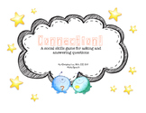 CONNECTION: A social skills game for asking and answering