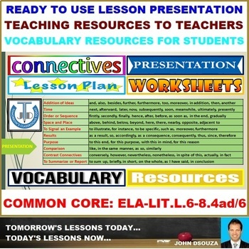 CONNECTIVES AND TRANSITIONS: LESSON PRESENTATION