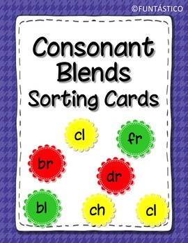 CONSONANT BLENDS SORTING CARDS