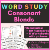 CONSONANT BLENDS Worksheets and Flashcards | PowerPoint and PDF | NO PREP