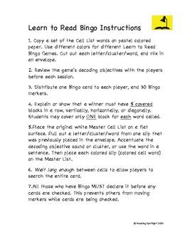 Reading Games: Beginning and Ending Consonant Digraph Bingo (LTR)
