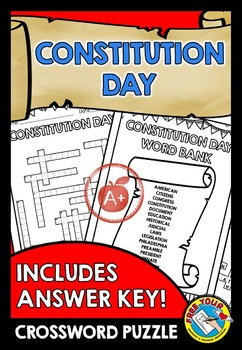 CONSTITUTION DAY ACTIVITIES: CONSTITUTION DAY PRINTABLE: CROSSWORD PUZZLE