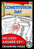 CONSTITUTION DAY ACTIVITIES (WORKSHEETS AND CROSSWORD PUZZLE)