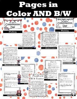 CONSTITUTION DAY - informational flipbook activitiy Grades 2-6