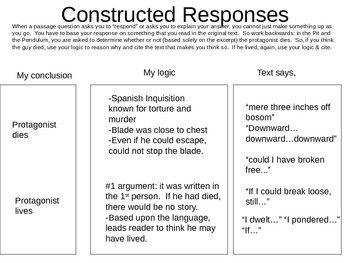 CONSTRUCTED RESPONSES - Have you S.E.E.N. my constructed response?