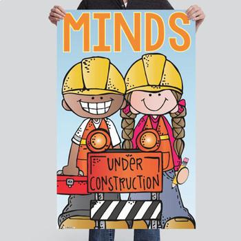 CONSTRUCTION - Classroom Decor: MEDIUM BANNER, Minds Under Construction