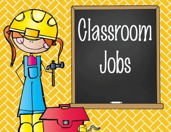 CONSTRUCTION - Classroom Helpers JOBS clip chart