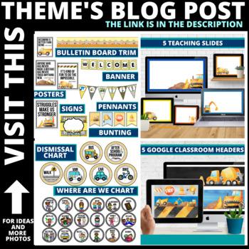 Construction Classroom Theme Decor Google Classroom