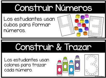 CONSTRUCTION DRAMATIC PLAY MATH CENTERS in SPANISH