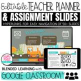 CONSTRUCTION Digital Teacher Planner for Google Slides Blended & Online Learning