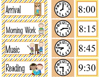 CONSTRUCTION - Schedule Cards / editable MS WORD / Illustrated