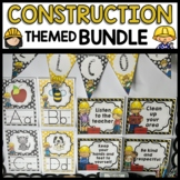 CONSTRUCTION THEMED Classroom Printable DECOR BUNDLE