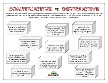 CONSTRUCTIVE VS. DESTRUCTIVE (Sportsmanship)