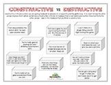CONSTRUCTIVE VS. DESTRUCTIVE (Sportsmanship)