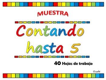 CONTANDO HASTA 5, español muestra