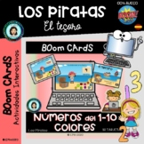 CONTAR 1-10 PIRATAS - Boom Cards Distance Learning- PIRATE