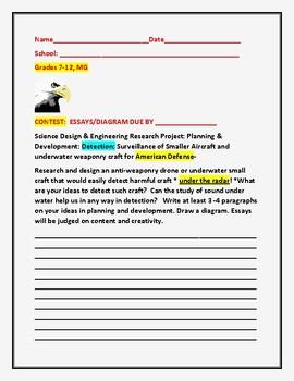 CONTEST: DEVELOPMENT OF UNDER THE RADAR SURVEILLANCE, MG, GRADES 7-12