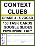 CONTEXT CLUE TASK CARDS (GRADES 3 - 5)