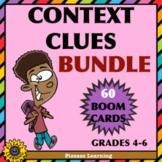 CONTEXT CLUES BUNDLE • NOUNS, ADJECTIVES, VERBS • BOOM CARDS