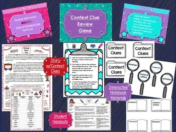CONTEXT CLUES: Bundle of Resources-PowerPoint, Materials, Assessment