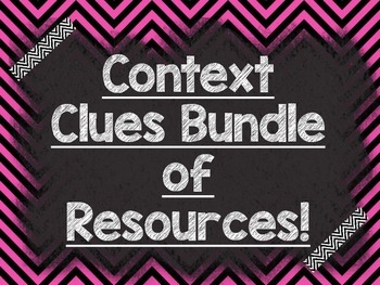 CONTEXT CLUES: Bundle of Resources-PowerPoint, Materials,