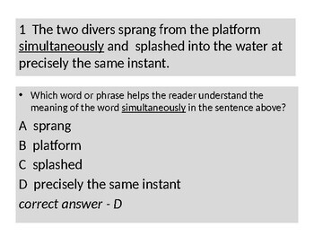 CONTEXT CLUES, MULTIPLE MEANING, GREEK/LATIN ROOTS; VOCAB TEST-PREP