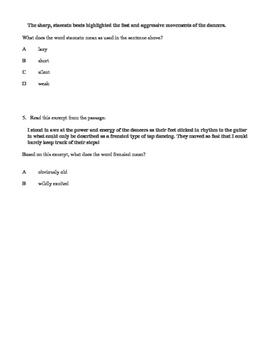 CONTEXT CLUES PRACTICE #1 WITH CLOSE READING (FCAT FSA PARCC COMMON CORE)