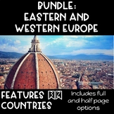 CONTINENT BOOKLETS BUNDLE: Eastern and Western Europe