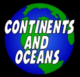 CONTINENTS AND OCEANS -GEOGRAPHY WORLD MAPS EARTH