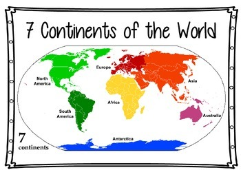 CONTINENTS flashcards
