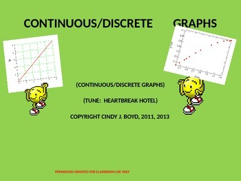 CONTINUOUS AND DISCRETE GRAPHS AND PROPERTIES