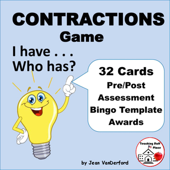 CONTRACTIONS GAME | Task Cards | I have . . . Who has?  Gr