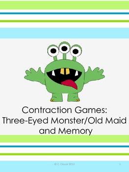 CONTRACTION GAMES: MEMORY AND THREE-EYED MONSTER/OLD MAID