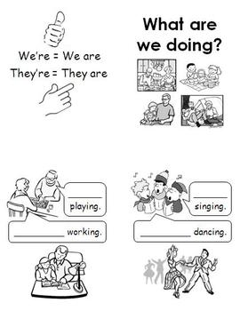 CONTRACTIONS BOOKLETS I'm, You're, We're, They're (Set of 3)