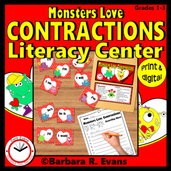 CONTRACTIONS: Monsters Love Contractions Literacy Center