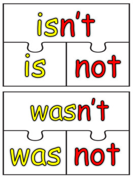 CONTRACTIONS PUZZLES