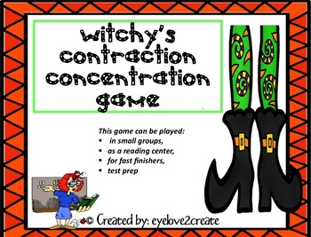 CONTRACTIONS  {Witchy's Concentration Game}/HALLOWEEN