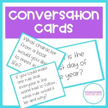 CONVERSATION CARDS - Strategies to Get Kids Talking!
