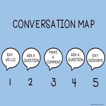 Social Skills/Conversation Skills - CONVERSATION MAP