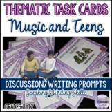CONVERSATION TASK CARDS: MUSIC AND TEENS Speaking/Writing