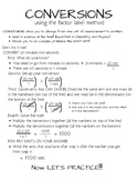 CONVERSIONS using the factor label method