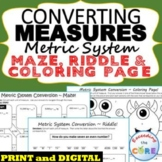 CONVERT METRIC UNITS OF MEASURE Maze, Riddle & Coloring Pa