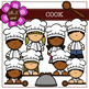 COOK Digital Clipart (color and black&white)