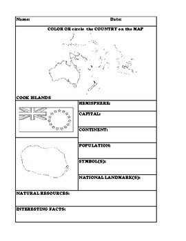 COOK ISLANDS COUNTRY RESEARCH WORKSHEET
